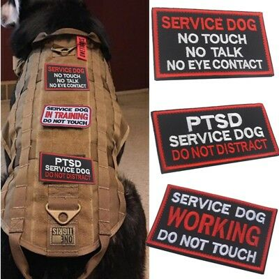 SERVICE DOG DO NOT TOUCH Patch Badge Training Army Police Dog Tactical Pet Badge