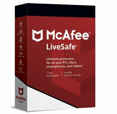 Mcafee Livesafe 2019 ✓Full Version-Original✓Pc,mac,andriod,ios✓1 Year License