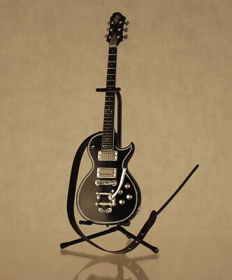 Greco & Zemaitis GZ-2600IF w/Bigsby | Stand | Strap | 1/8 Scale | Black | Japan