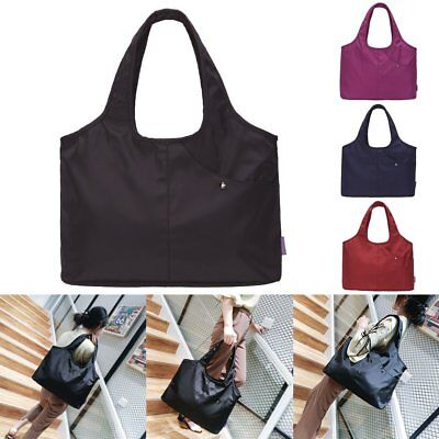 Capacity Oxford Shoulder Bags Waterproof Shopping Tote Lightweight Pouch RN