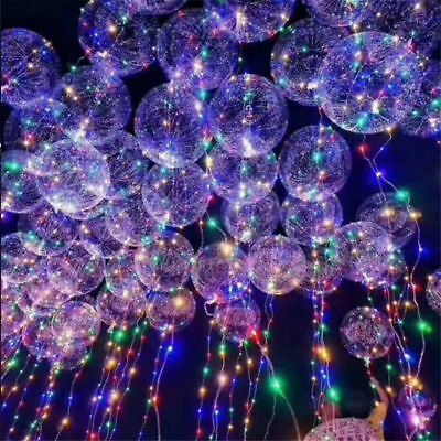 BoBo Bubble Balloon 18inch Glow In The Dark LED Clear Balloon Light Party Decor