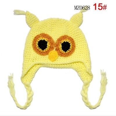 Fashion Lovely Baby Crochet Knit Cotton Handmade Beanie Owl Hat Cap Photo Prop