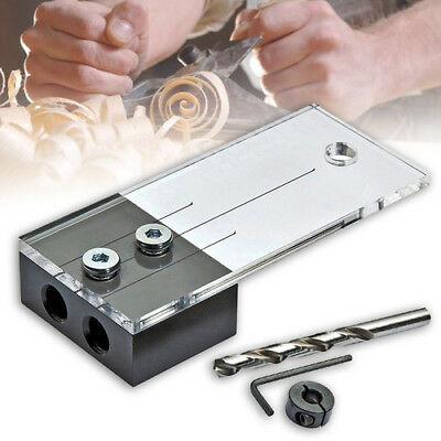 1/4 Dowel Drilling Jig Kit Wood Drilling Guide Hole Locator Woodworking Tool