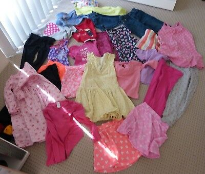 26 (Bulk) Girl's Mixed Clothing Items S 4-7 -Skirts,tops, Leggings, Dresses Etc