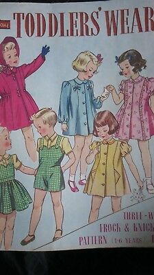 Leach-Way Toddlers Wear No 238 Childrens Fashion c1940s