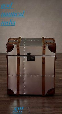 Trunks & Chests Aluminium Small Trunk Side Storage Table Nautical