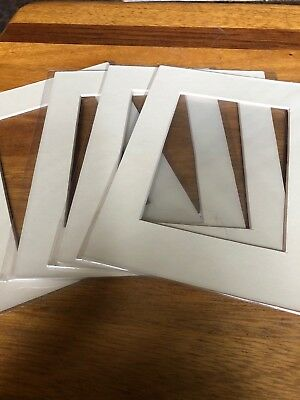 """Ivory Picture Photo Frame Mounts Bevel Cut Mount pk of 5 6x8"""" 3.5x5.5"""" Aperture"""