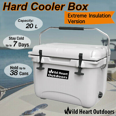 20L Hard Cooler Box Esky Ice Chilly Bin Camping Picnic Fishing 2in1 Thermal Cont