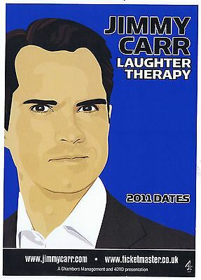 Jimmy Carr  Laughter Therapy Concert Tour 2011   Playbill  Concert  Flyer   RARE