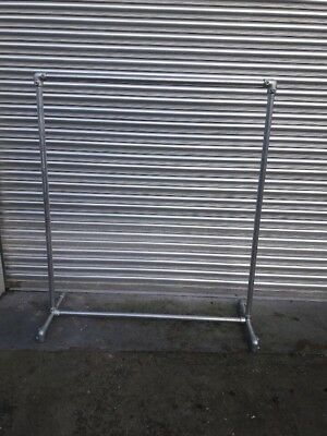 Industrial Style Clothes Rail Heavy Duty Galvanised Steel