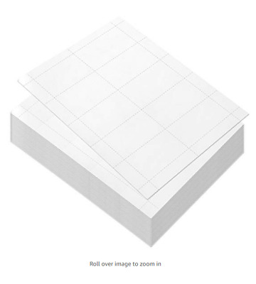 100 Sheets-Blank Business Card Paper - 1000 Business Card Stock for Inkjet and..
