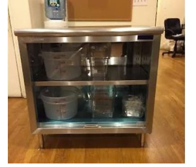 """14""""x48"""" Stainless Steel Commercial Dish Cabinet"""