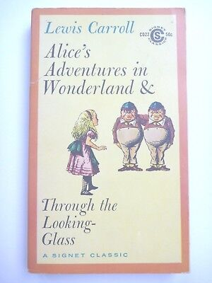 ALICE'S ADVENTURES IN WONDERLAND by LEWIS CARROLL 1960 1ST EDITION 2ND PRINT VG