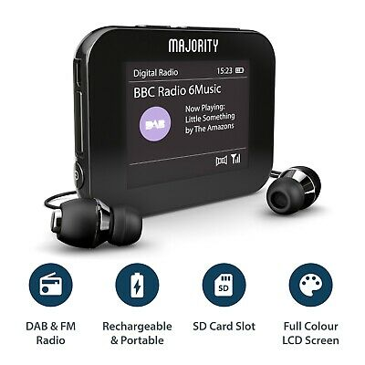 MP3 Player Portable Radio Handheld Pocket Personal DAB+ Digital FM Rechargeable