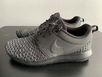look for 6f756 6281c Nike Roshe NM Flyknit PRM Reflective Men s Size 11 Black   Dark Grey 746825- 002