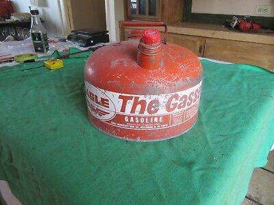 Vintage 2 1/2 Gallon Metal Gas Can The Gasser    Lot 18-81-3-C