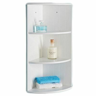 Modern White 3 Tier Corner Floating Wall Shelves Storage Display Shelves
