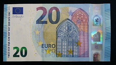 EUROPEAN UNION 20 Euro 2015 Germany R P22 Draghi UNC Banknote