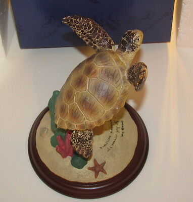 "Sea Turtle ""Flight"" Figurine - Bob Wyland Marine Artist Sculpture"