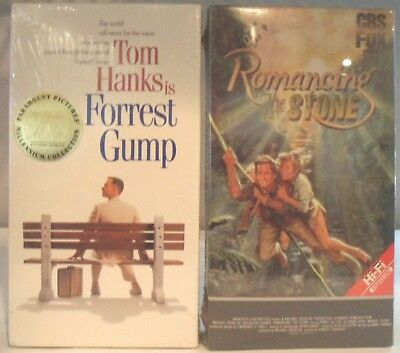 Forrest Gump and Romancing the Stone - VHS Tapes - both are still sealed / NEW
