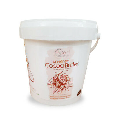 Cocoa Butter, 100% PURE & RAW, Natural, Unrefined from Ivory Coast, 1kg