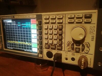 Rohde Schwarz FSL spectrum analyzer 9khz-3Ghz - recent model with remote