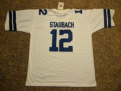 DALLAS COWBOYS  12 Roger Staubach Throwback Jersey Authentic Sewn ... 0803851a6
