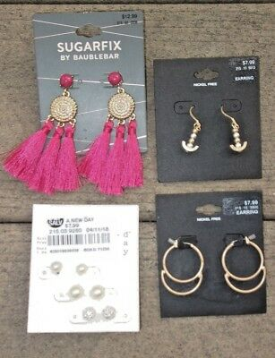 NWT SUGARFIX BY BaubleBar & Target fashion earrings