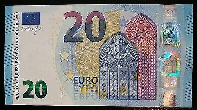 EUROPEAN UNION 20 Euro 2015 (France U) P22 Draghi UNC Banknote