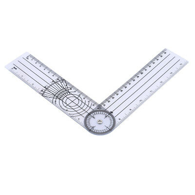 Durable Medical Spinal Ruler Goniometer Angle Protractor Angle Ruler Tool B