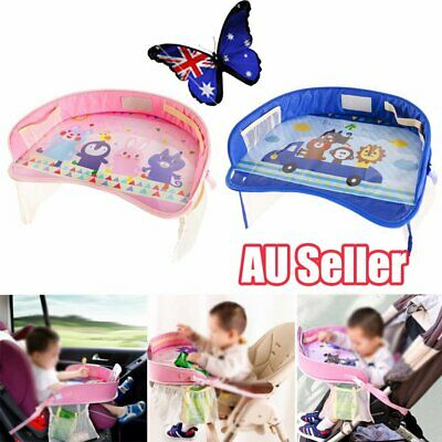 Kids Toddler Safety Car Seat Travel Snack Play Table Tray Drawing Board  JO