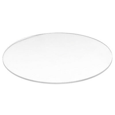 10X(Transparent  3mm thick Mirror Acrylic round Disc Q8R9)