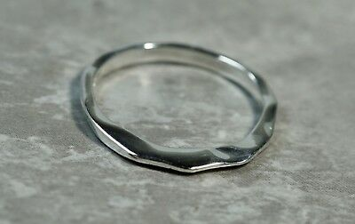 Rlm Studio .925 Silver Modernist Wave Ring Size 7 Precious Metal Without Stones
