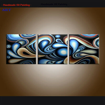 Handpainted Large Modern Colorful Abstract Oil painting Canvas Art Framed Decor