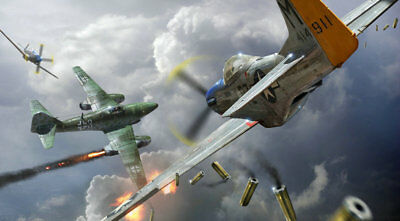 Art wall HD prints oil painting on canvas ww2 war Retro Vintage Fighter Gifts 29