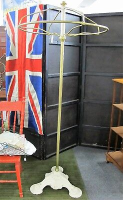 Antique Cast Iron & Brass Revolving Clothes Rack Shop Fitting C1900 Clothing