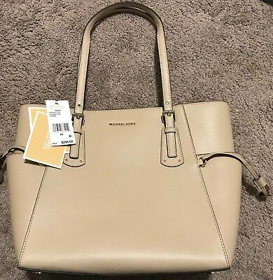 7ac1b843ed NWT NEW Michael Kors Raven Ladies Large Oat Leather Tote Handbag  298 MSRP