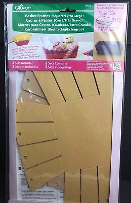 Clover Basket Frames Square Extra Large New #8427 Contains 2 Sets USA Seller