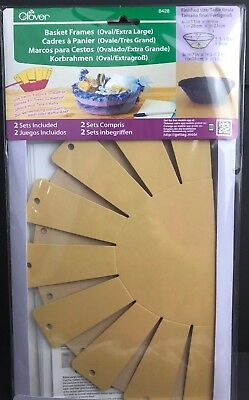 Clover Basket Frames Oval Extra Large New #8428 Contains 2 Sets USA Seller