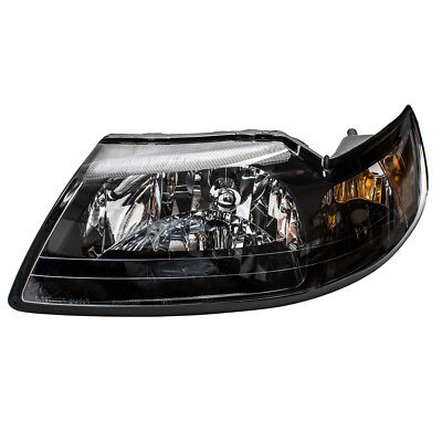 99-04 Ford Mustang Drivers Headlight Assembly - Smoked Lens & Black Bezel