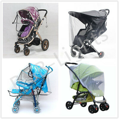 Universal Buggy Rain Sun Net Cover For Baby Pushchair Stroller Pram Waterproof