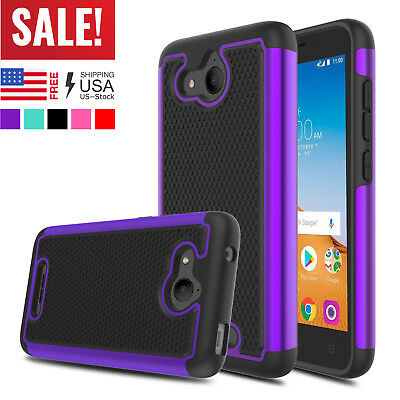 For Alcatel Tetra 6753B 5041C 5041 Phone Shockproof Hybrid Hard Armor Case Cover