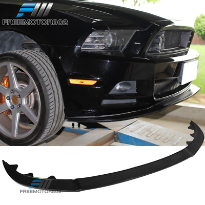 2013 Mustang Front Bumper >> Fits 2013 2014 Ford Mustang Gt Style Front Bumper Lip Splitter Chin Pu Urethane