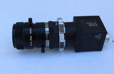 SONY XC-ES30CE Monochrome CCD Camera with Tamron 1 2.8 50mm Dia 25.5 Mm Lens