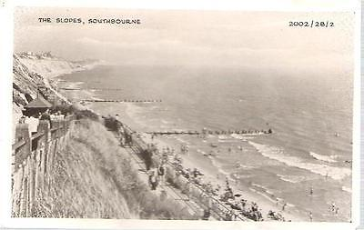Bournemouth, Dorset - Southbourne, slopes - postcard by Richter c.1950s