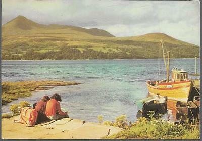 Brodick Bay, Isle of Arran - Goat Fell - Braemar Films postcard c.1960s