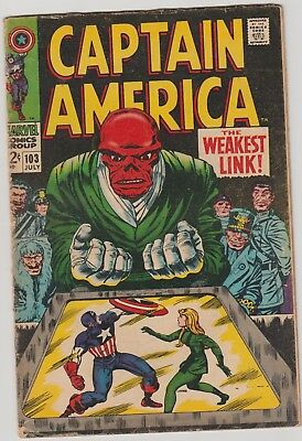 Captain America #103 Fine condition 1968 - The Weakest Link