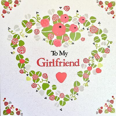 To My GIRLFRIEND Birthday Greeting Card By Tracks Publishing Glitter Effect