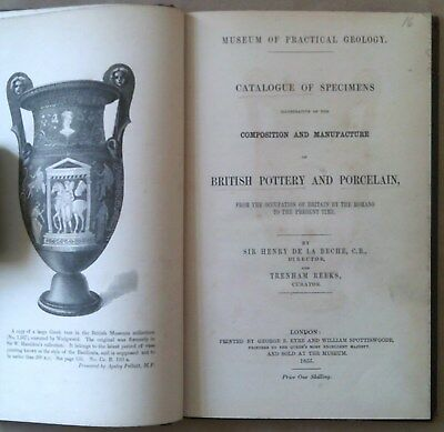 Catalogue Of Specimens - British Pottery And Porcelain - Beche - Reeks - 1855