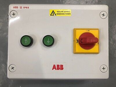 ABB Custom 3 Phase 4Kw Motor Control Switchgear Box / DOL / Brand New Boxed